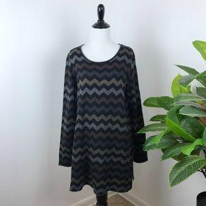 Gudrun sjoden chevron printed tunic sweater